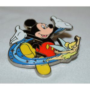 Rare Disney Parks Pin Mickey Mouse With Flying Tin